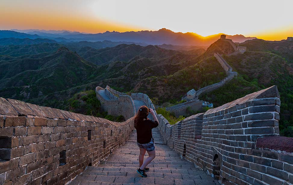 Private 2-Days  Great Wall Hiking Tour Include Sunset and Sunrise View